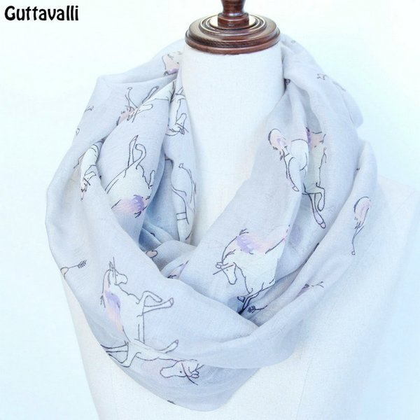 Cheap Scarves unicorn horse infinity scarf US Seller