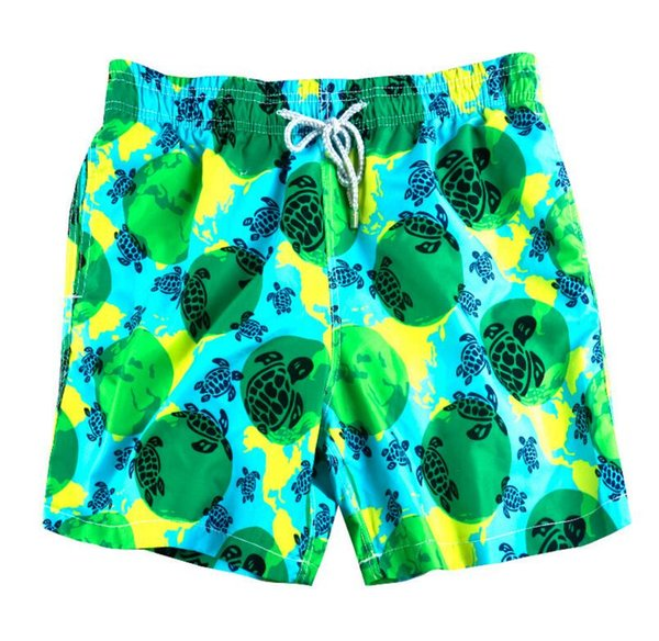 Green Men's Swimwear Men's Swimwear Shorts Beach Surfing Pants Quick Dry Printed Board Shorts Summer Tropical Volley Bathing Suits