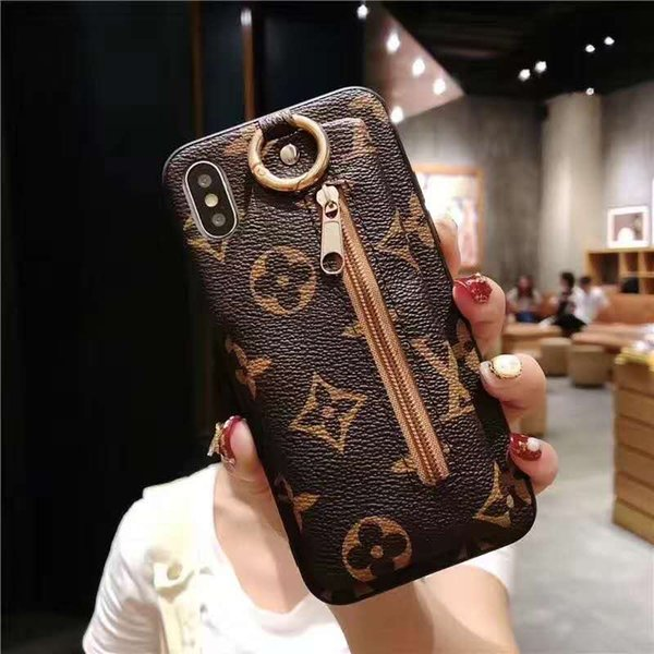Luxury Brand high Quality-Classic English alphabet purse phone case for iPhone X 8 7 Plus 6S PU Leather Case shell