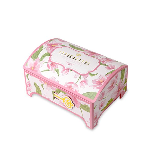 50 x Luxury Wedding Pink Flower Bronzing Boxes Gift Box Sweet Gift Bag Party Supplies