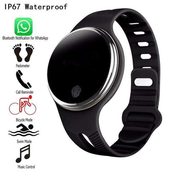 Hot Sale E07 Waterproof Sports Bracelet Smart Watches Pedometer Fitness Tracker Smartband Call Reminder for Android IOS Phones 10pcs/lot
