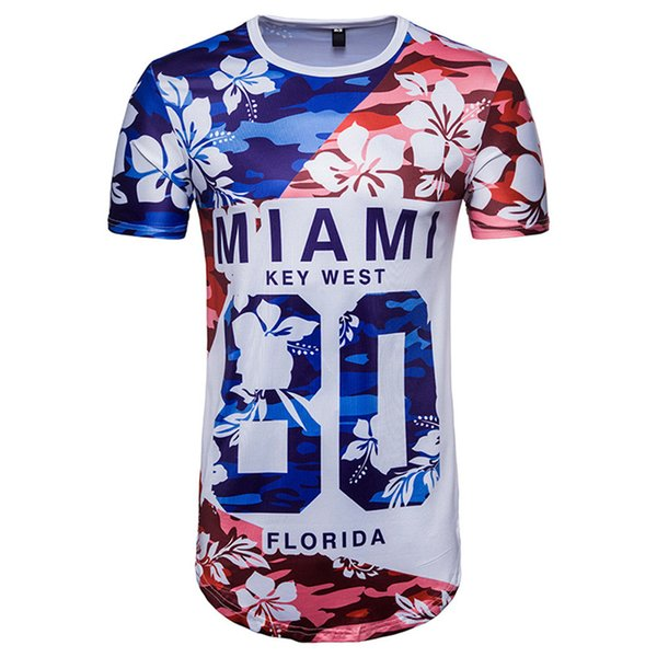 JAYCOSIN Men Tees Number 80 MIAMI Letter Print World Game T Shirt Drop Shipping jul0218