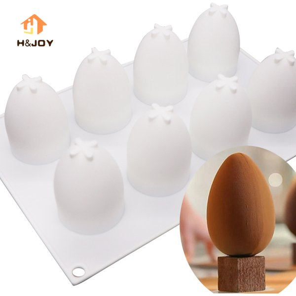 3D Easter Eggs Silicone Molds Cake Decorating Tools Bakeware French Dessert Mousse Cake Mold Baking Cupcake Silicone Mousse Mold