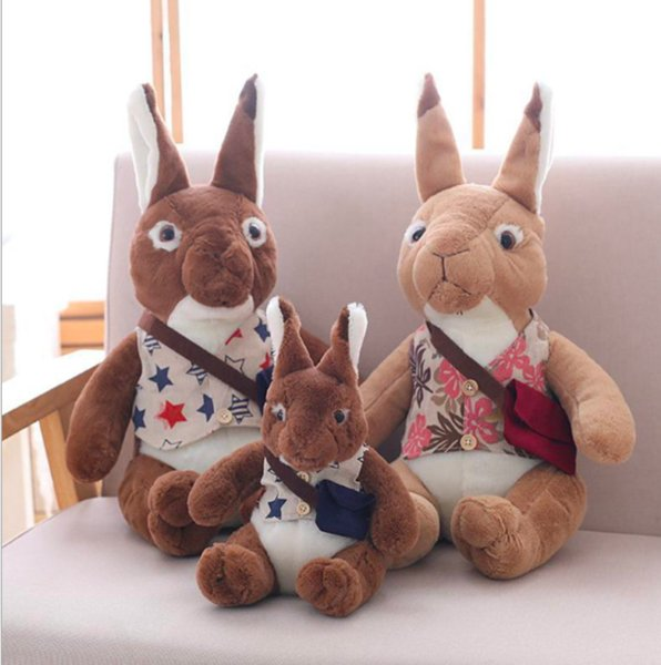 1pc Lovely Cute Rabbit with Backpack Plush Toys Staffed Animal Dolls Kids Stuffed Simulation Animal Doll Gift Girls Birthday