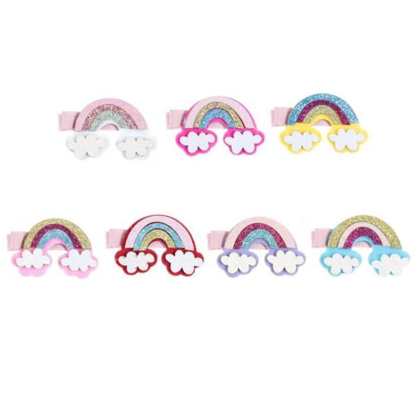 New Unicorn Horns Rainbow Diy Accessories For Girls Hair Clips Headband Headwear Birthday Gift Party Supplies