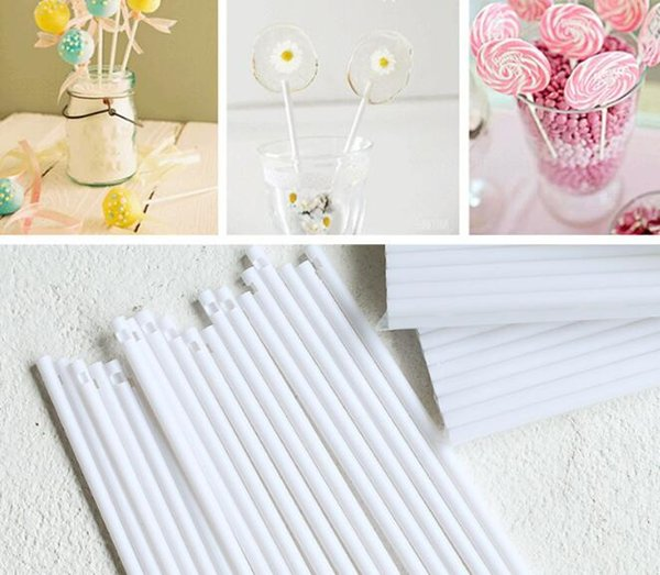 500Pcs 10cm Pop Sucker Sticks Cake Plastic Lolly Lollipop Candy Chocolate DIY Modelling Mould Mold Stand Decorating Tool