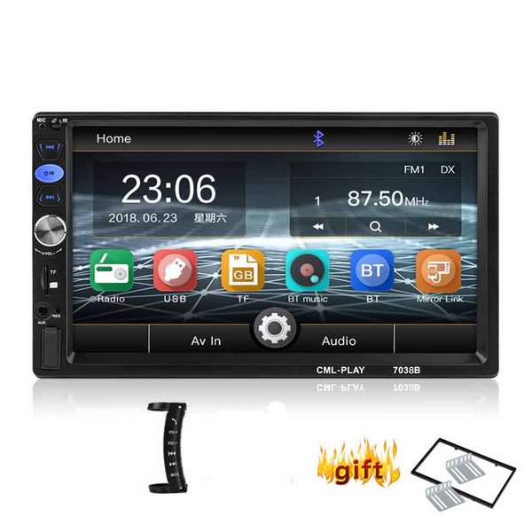 """7/"""" Double 2Din Touch Screen Car Stereo MP5 Player Bluetooth FM Radio Mirror Link"""