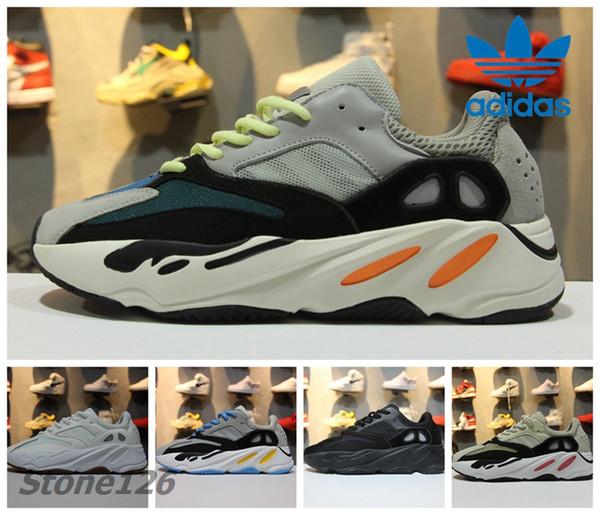 3095dabb620 Adidas Yeezy Boost 700 Wave Runner Og B75571 Triple Black White Men Women  Running Shoes Sports 700 Boosts Fashion Sneaker With Original Box Running  ...