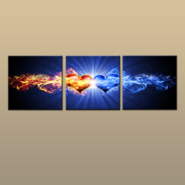 Framed/Unframed Large Modern Wall Art Canvas Giclee Prints Painting Abstract Picture Decor 3 piece Home Bedroom Living Room Decor abc225