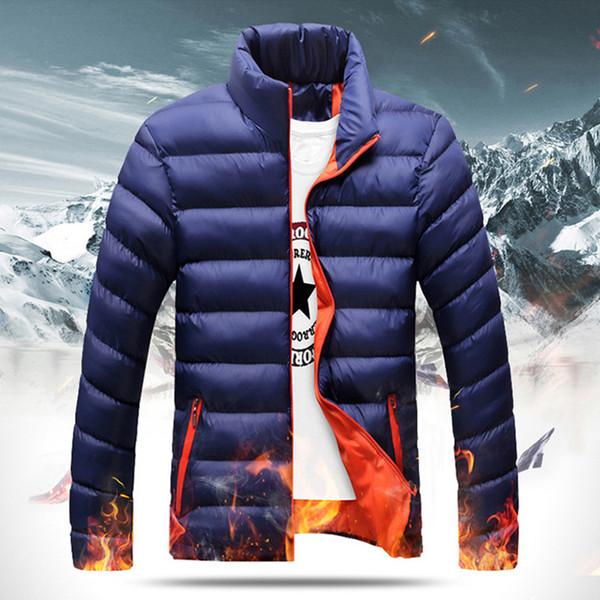 New Men Solid Winter Warm Down Jacket Padded Parka Thicken Stand Collar Outerwear Big Size Plus XXXXL