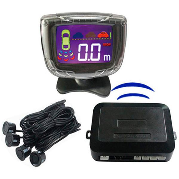 4 Sensores de Estacionamento Sem Fio Display LCD Car Parking Senssor Car Charge Invertendo Radar Parktronic Detector Sistema de Monitor