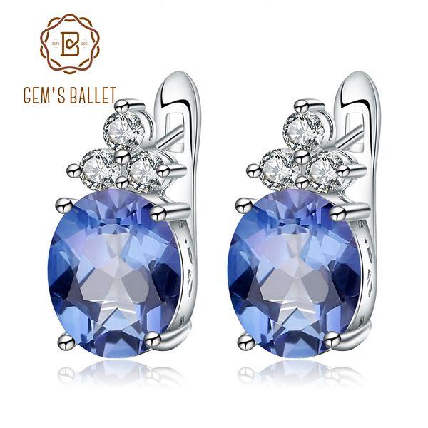 Gem's Ballet 925 Sterling Silver Fine Jewelry Mystic Quartz Iolite Blue Gemstone Gorgeous Drop Earrings For Women Drop Shipping S18101207