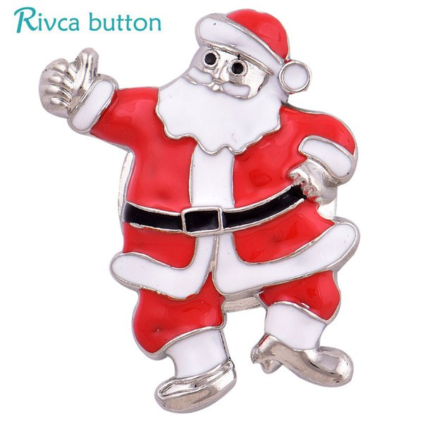 2018 D04047 Rivca inserts convertible magnet brooch antique Christmas man Headscarf Scarf Clip Vintage Muslim Brooch magnetic pin brooch