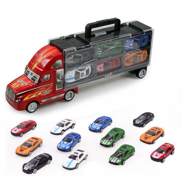 Vente chaude! Simulation Grands Camions Pix Alliage Modèle De Voiture Éducatif Puzzle En Métal Jouets pour Collection De Voitures Amoureux Cadeaux Enfants