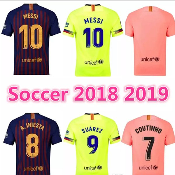 the best attitude 43bcd ad3e4 2018 18 19 Barcelona Third Champions League Soccer Jerseys Vidal Kids Home  Suarez Messi Away Green 2018 Man Child Dembele Coutinho Jersey Shirts From  ...
