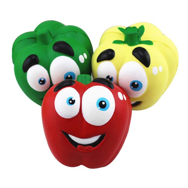 Jumbo Pepper Chili Squishy Toys Kawaii Vegetable Slow Rising Squeeze Phone Charms Stress Reliever Kids Gift Simulation Cake