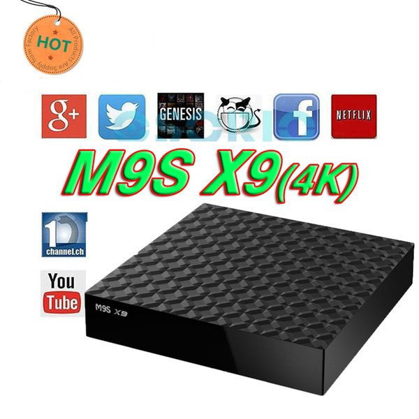 2018 RK3229 M9S X9 android 6.0 tv boxes 4K HDR H.265 HEVC 3D Private model 1GB 8GB WIFI set top box