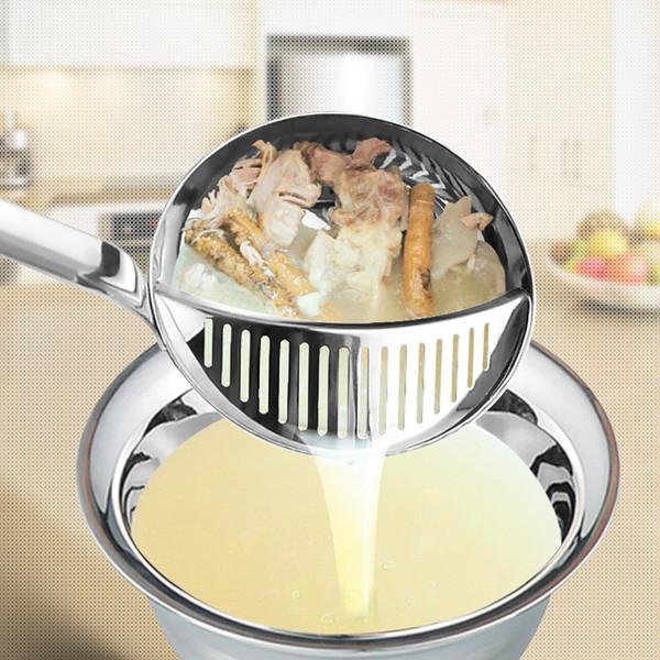 Plus épais Hot Pot Cuillère À Soupe Passoire Ustensiles De Cuisine En Acier Inoxydable Skimmer À Poignée Longue Passoire Fin