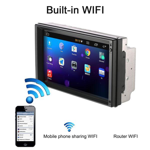 7 '' WIFI Navegación GPS Universal Doble 2 Din Android 5.1 Coche Reproductor de DVD Autoradio Video / Mutimedia Audio estéreo Reproductor MP5