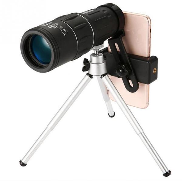 20pcs Outdoor Camping Portable Mini Telescope 16X52 HD Day Night Vision Dual Focus Phone Photo Clip Monocular Hiking Telescope