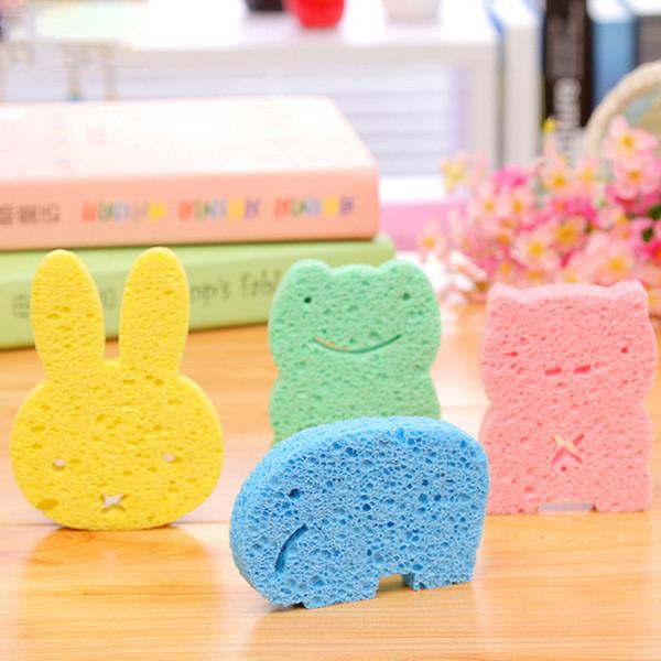 Cute Newborn Baby Soft Sponge Cartoon Bear Shape Bath Brushes Baby Bath Infant Shower TRQ0158
