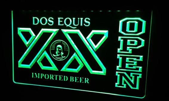 LS465-g Dos Equis Beer OPEN Bar Neon Light Sign Decor Free Shipping Dropshipping Wholesale 8 colors to choose