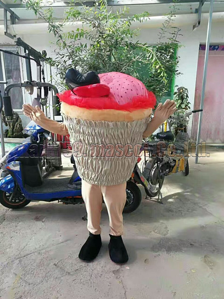 ice cream mascot costume Free Shipping Adult Size,cake mascot plush toy carnival party celebrates mascot factory sales.