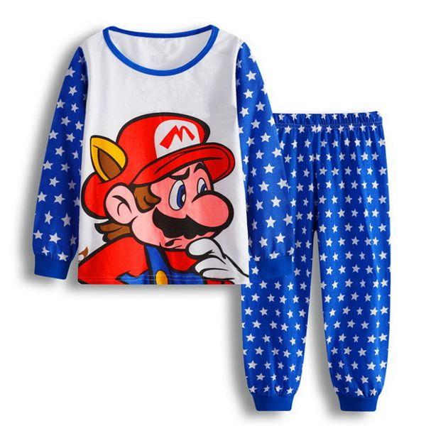 2-7 y cartoon kids pajama sets cotton long sleeve clothing set spring winter child pyjamas set baby girls boys sleep wear A75