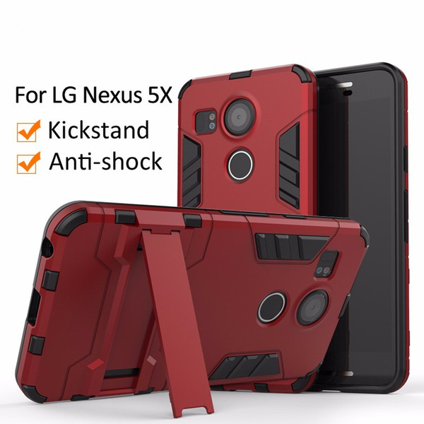Dual Layer Slim Armor Hybrid Phone Cover for LG Nexus 5X V20 Mini G7 Stylo4 Kickstand Case for Apple XSMAX Xr Cell Phone Cases