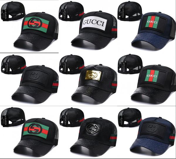 2019 Nueva marca para hombre sombreros de diseño snapback gorras de béisbol invierno de lujo dama moda de cuero camionero casquette mujeres causal bola gorra