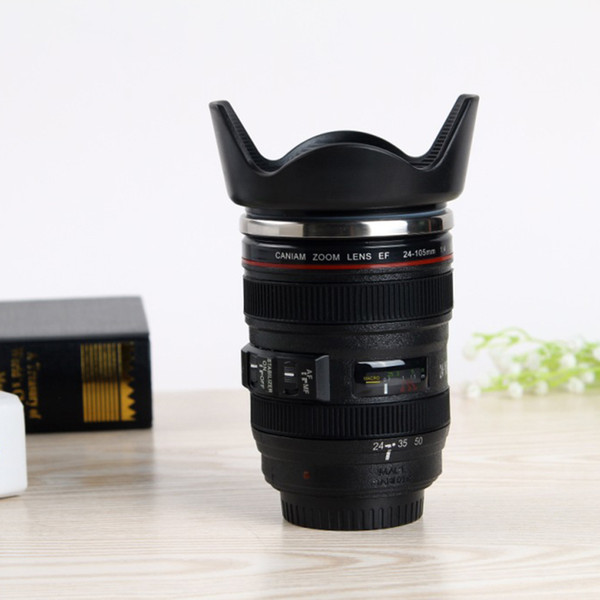 Fashion 14OZ Camera Lens Mugs Coffee Mugs 4 Generation Water Bottles 304 Stainless Steel Liner Travel Cups as Gifts