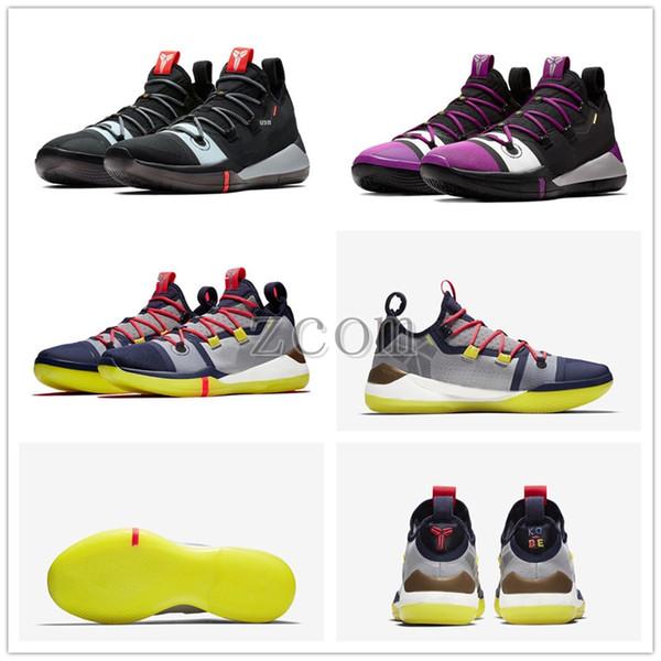 2018 Kobe A.D. Mamba Dia EP Vela Multi-Color Mens sapatos de basquete AV3556-100 Kobe Bryant tênis esportivos Athletic Basket tamanho da bola 7-12