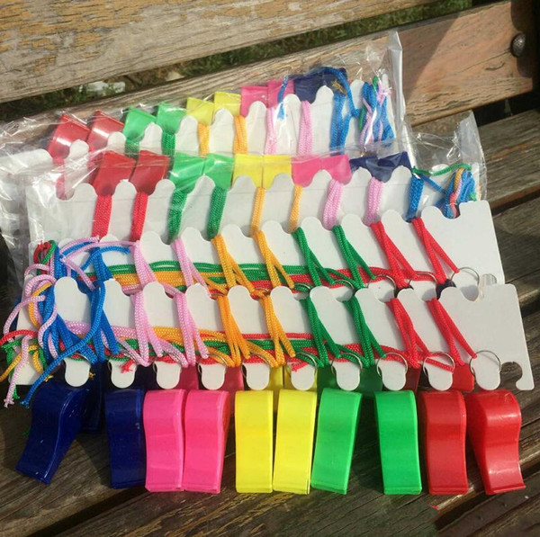 New Colorful Lovely Chic Plastic Whistle Cheap Popular Noise Maker Sport Game Party Christmas Whistles LX3418