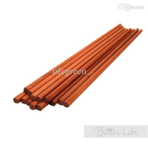 Wholesale-10 pair 25.3cm Chopsticks natural red sandalwood China style chopsticks household tool