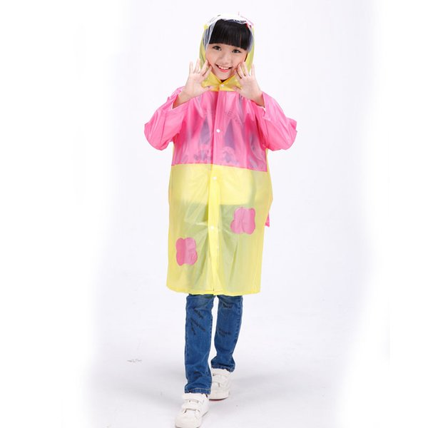 Raincoat Kids Waterproof Boys Girls Long Cute Regenmatel Cloak Awning Poncho Rain Raincoat For Children Impermeable QQG439