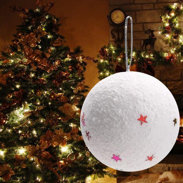 Christmas Lawn Decorations.Christmas Polystyrene Foam Ball Tree With Ball Foam White Snow Star Christmas Ornaments Sphere Decoration Christmas Lawn Decorations Christmas Lawn