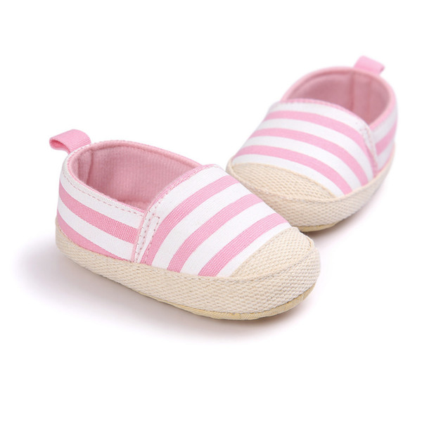 BlueΠnk Striped Baby Shoes Infant First Walkers Soft Sole Cotton Cloth Footwear Casual Anti-Slip Shoes