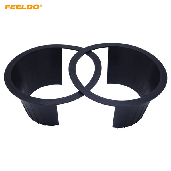 "FEELDO 2pcs 6"" Car Auido Horn Speaker Waterproof Cover Plastic Spacer with Protective Cushion Horn Retaining Door Pad #5517"