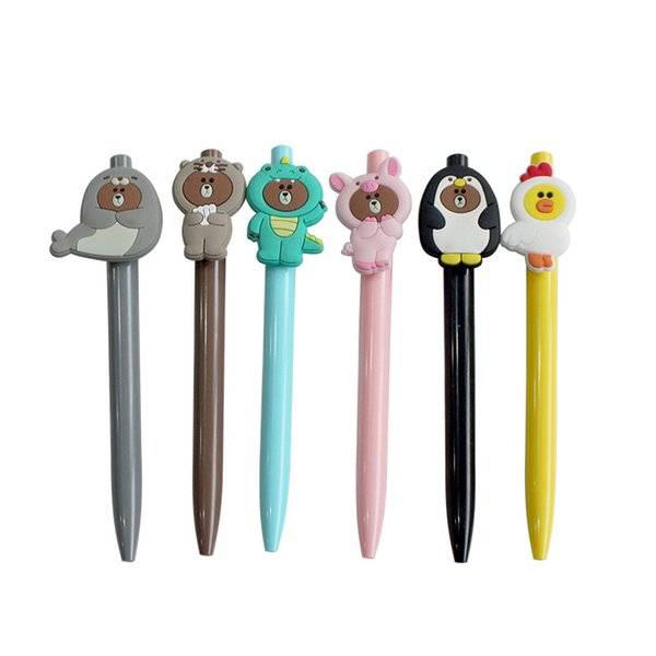 Novo 0.5mm Bonito Dos Desenhos Animados Kawaii Canetas Gel de Animais Criativos Papelaria Coreano Para Crianças Dos Miúdos Das Crianças Material Escolar Escritório de Natal presente