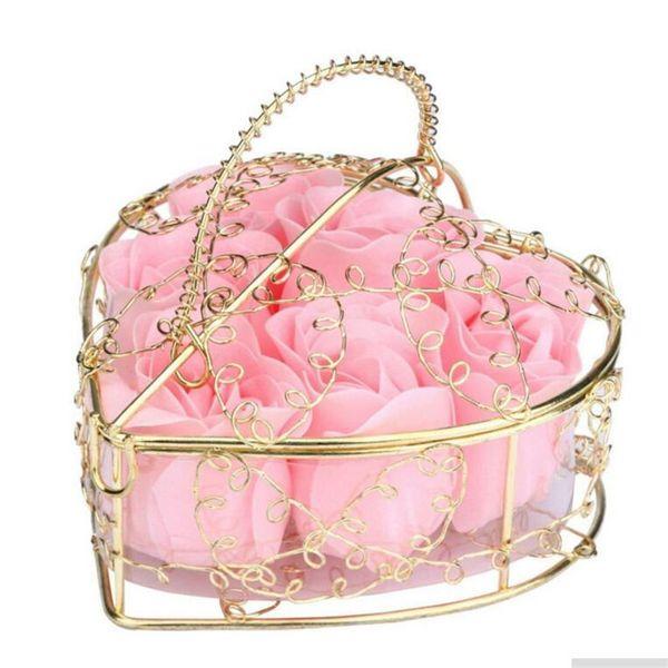 Kreative Valentinstag Rose Eisen Bar Box verpackt handgemachte Rose Seife Blume Simulation Blume Seife Geburtstagsfeier Geschenke