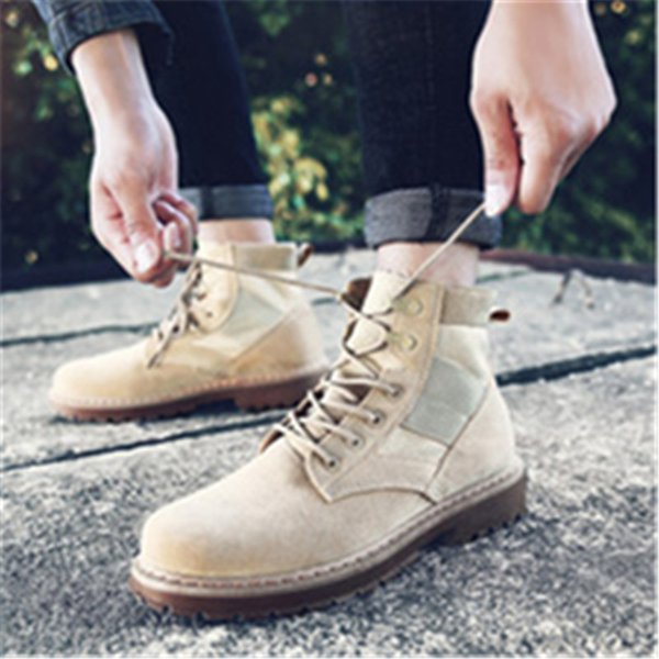 Smile Circle Size36-41 Chunky Biker Boots For Women Autumn 2018 Fashion Round Toe Lace-up Martin Combat Boots Ladies Shoes