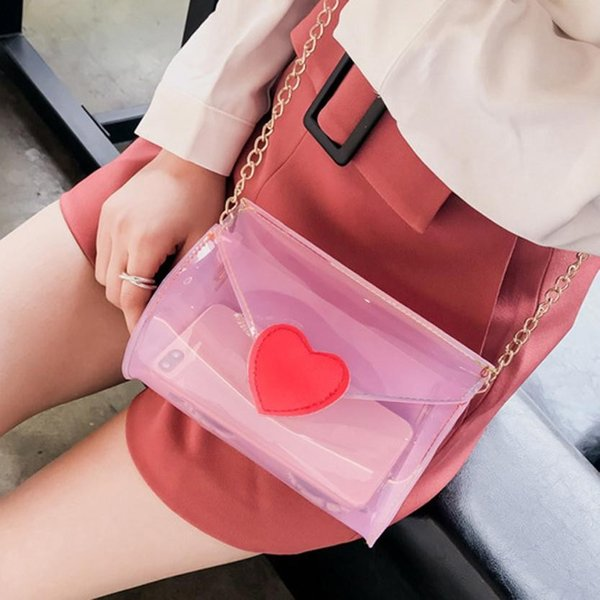 2018 New Fashion Beach Bag Women Messenger Bag Cute Waterproof shoulder women transparent Female Handbag bolsa feminina