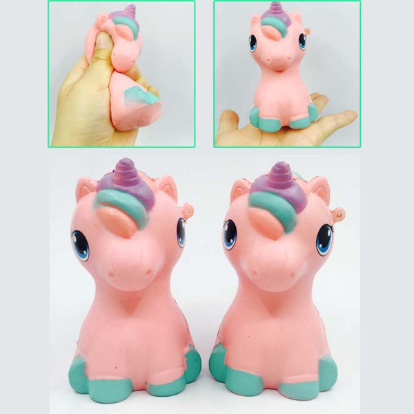 Small Pink Pony Unicorn Squishy Kawaii Squishies Toy Cute Simulated Animal 10CM Slow Rising Squeeze Cartoon Toys