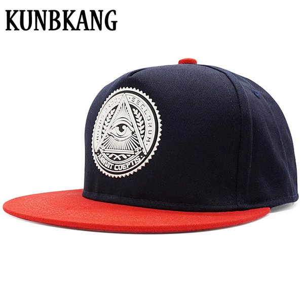 Hohe Qualität Baumwolle Baseballmütze 3D Augen Patch Hip Hop Hut Für Männer Frauen Gorras Vintage Mode Flache Krempe Hip-Hop Hysteresenhut