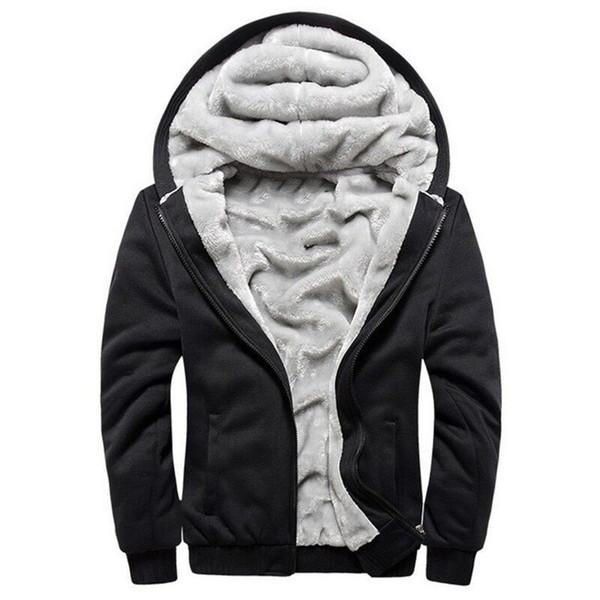 Bomber européen Mode Hommes Vintage Veste polaire Épaississement Automne Hiver Designer Homme Slim Fit chaud Manteau 2018