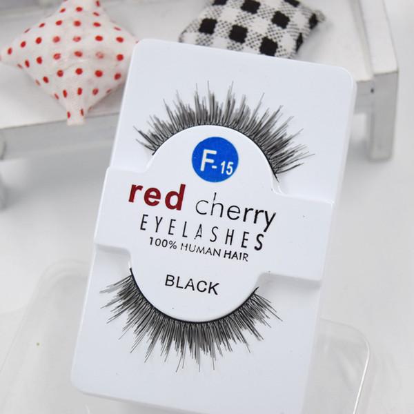 Factory directly 27 styles RED CHERRY False Eyelashes Natural Long Eye Lashes Extension Makeup Professional Faux Eyelash Winged Fake Lashes