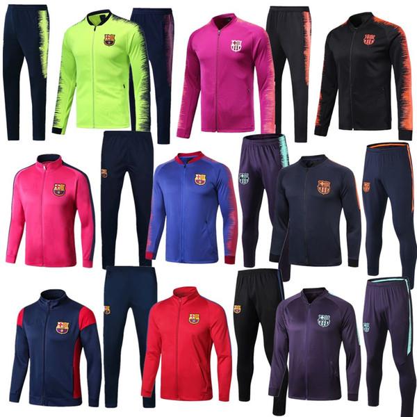 huge selection of 9f0b3 ccc50 2018 2018 2019 Barcelona Tracksuit Survetement Jacket Set 1819 Barcelona  Jacket Messi Suarez Pique Full Zipper Football Jacket Sportswear Set From  ...