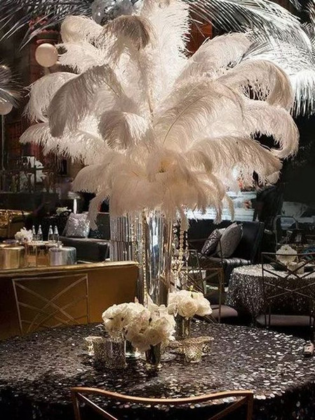 Ostrich Feather Plumes for Wedding Centerpiece Table Party Desktop decoration beautiful feathers DIY Party Decorative wholesale High qualit