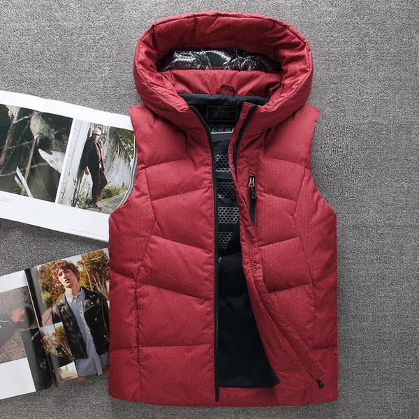 f33adba2215f74 Designermarke Männer Winter warme Daunenweste Klassische Feder weskit Jacken  Mens casual Westen Mantel Mann Oberbekleidung Jacke Größe: M-XXXL 681A