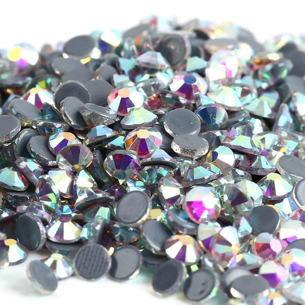 Crystal AB Hot Fix Rhinestone Super Bright Glass Strass Hotfix Iron On Crystal Rhinestones for Wedding Decoration